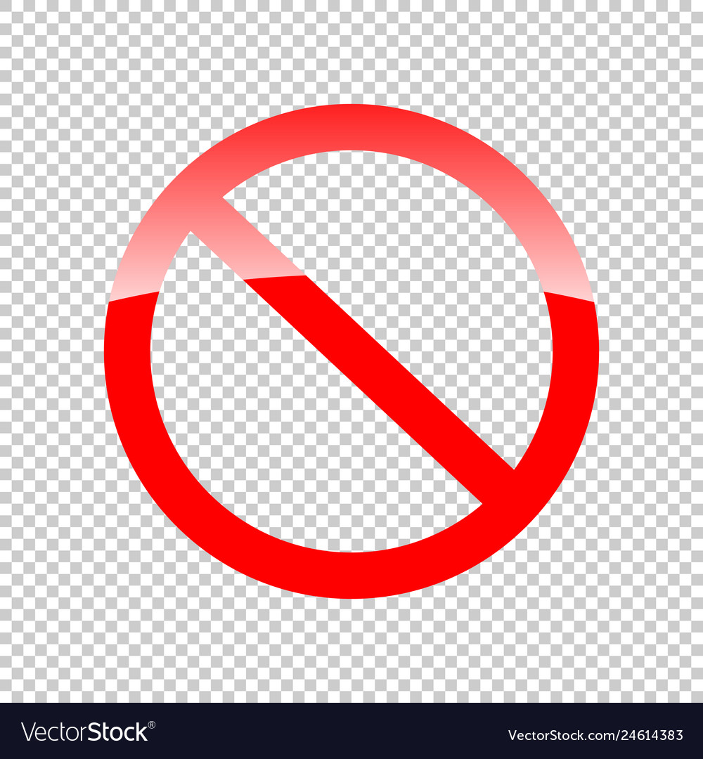 Not Approved Ban Symbol On Transparent Background Vector Image