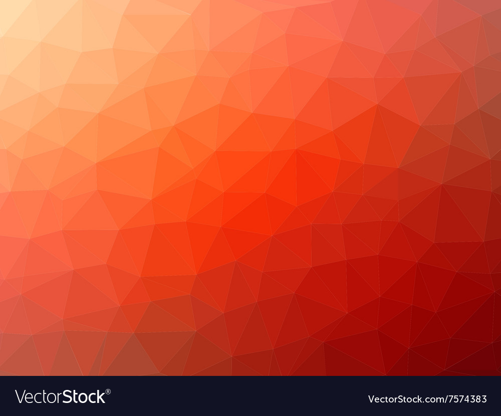 Red-orange low poly background