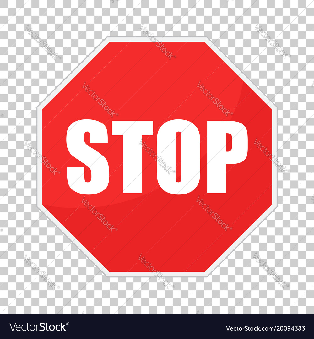 Red Stop Sign Icon Danger Symbol Royalty Free Vector Image