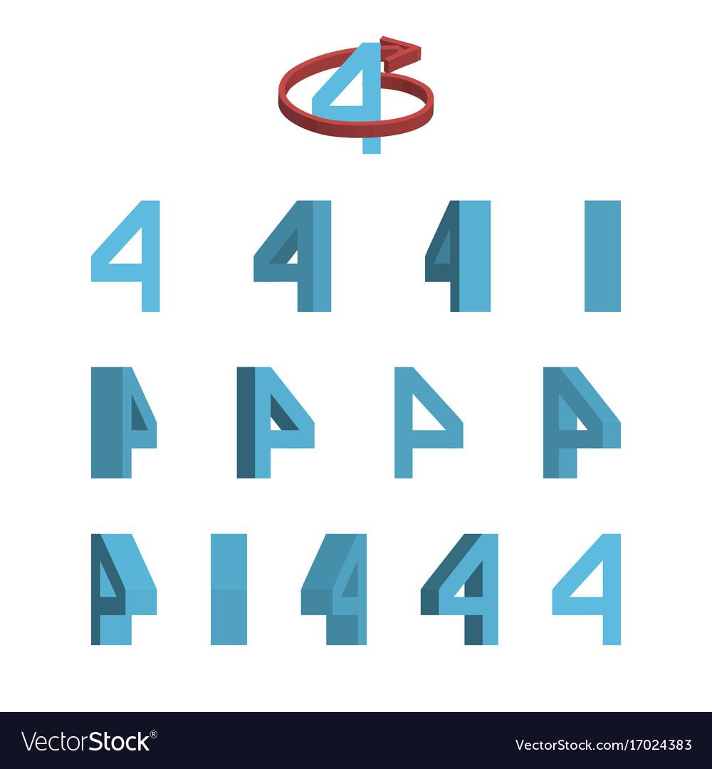 Sheet of sprites rotation of cartoon 3d number 4