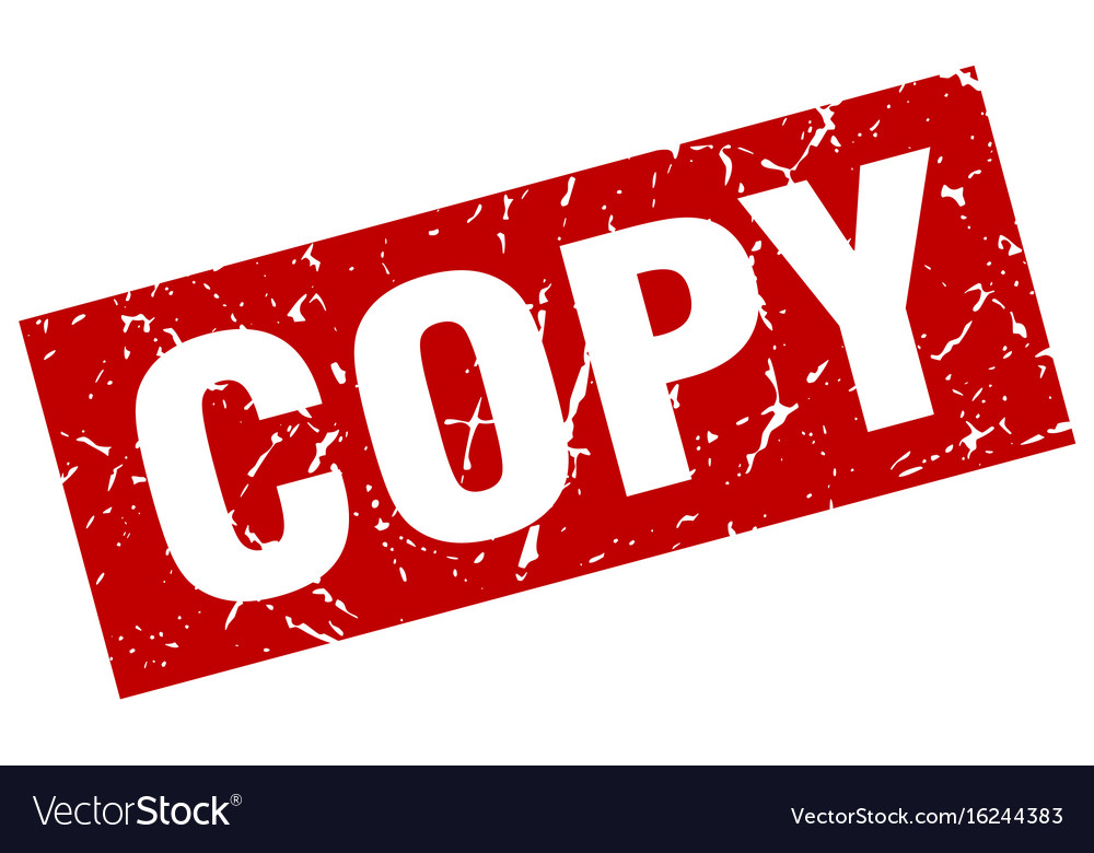 Square Grunge Red Copy Stamp Vector Image