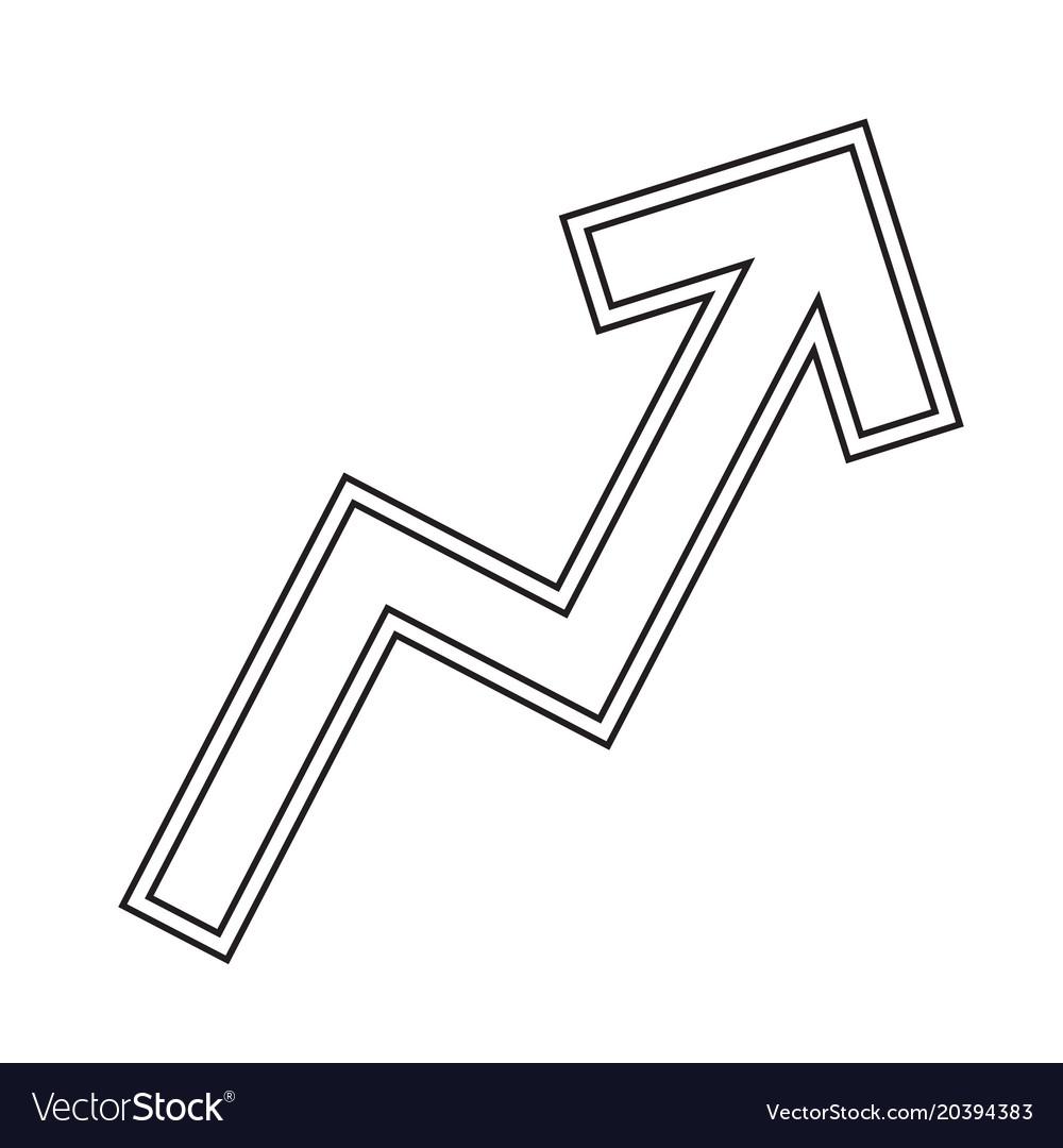 Zigzag arrow chart line icon