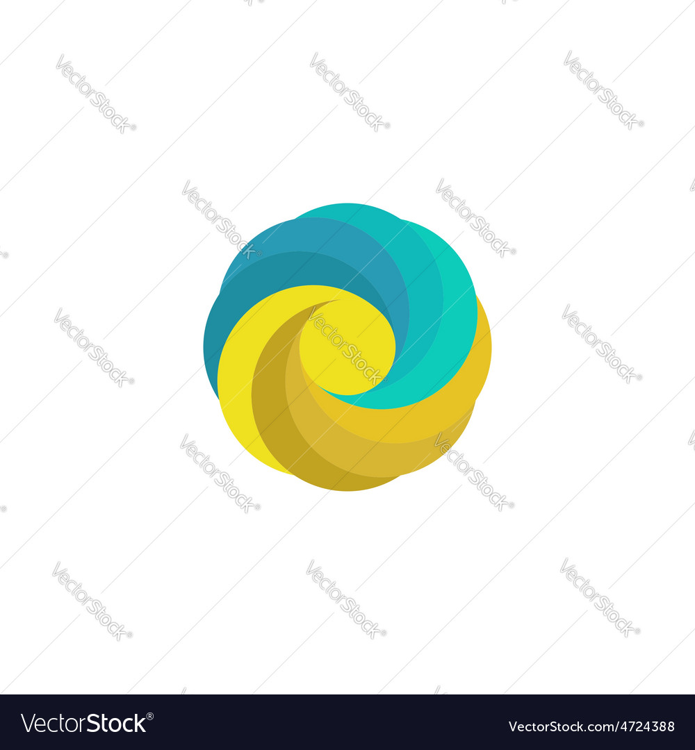 Abstract mockup travel logo sand sun wave paradise