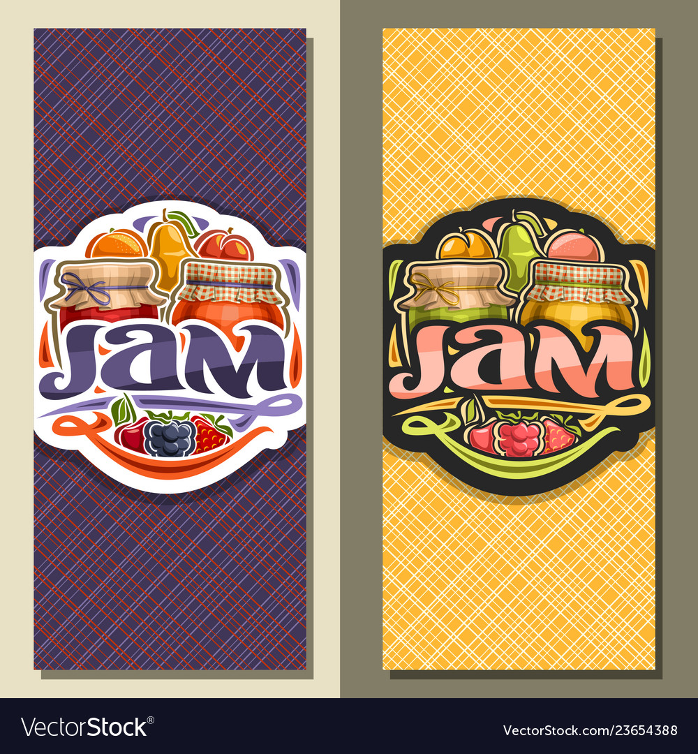 Banners for fruit jam