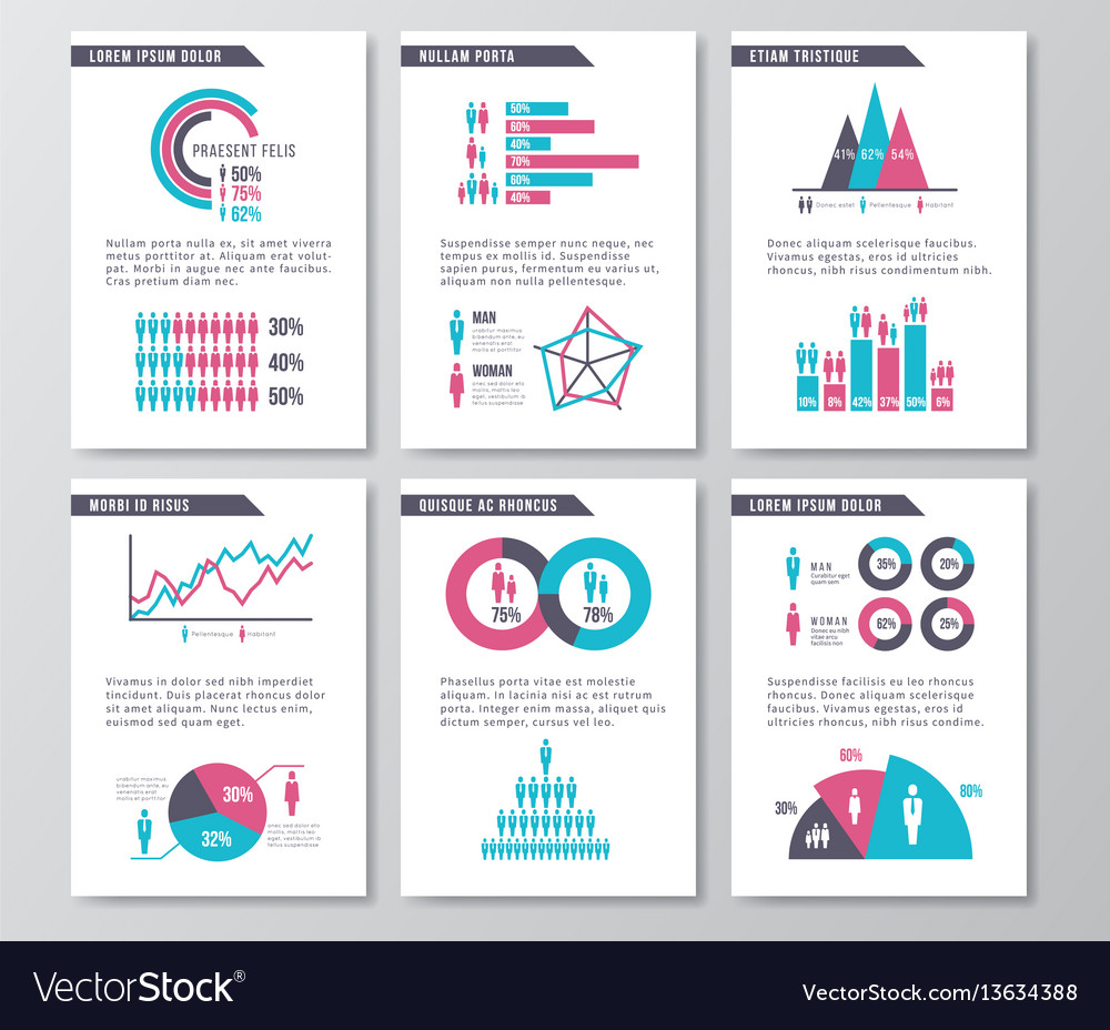 Business infographic brochure pages with