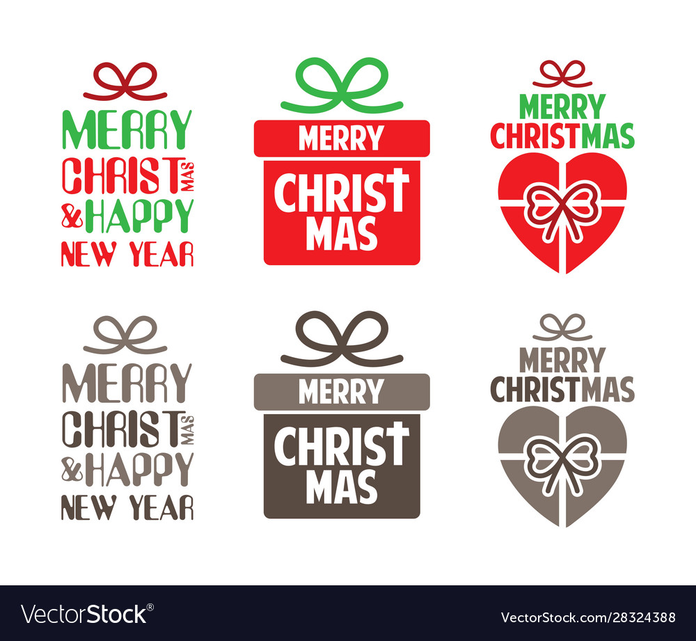 Merry christmas text designed with gift box