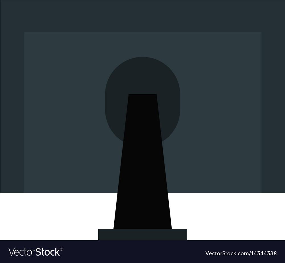 Monitor Computer Desktop Icon Royalty Free Vector Image