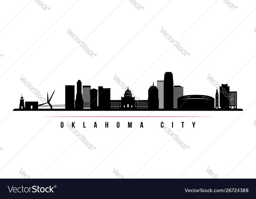 Oklahoma city skyline horizontal banner