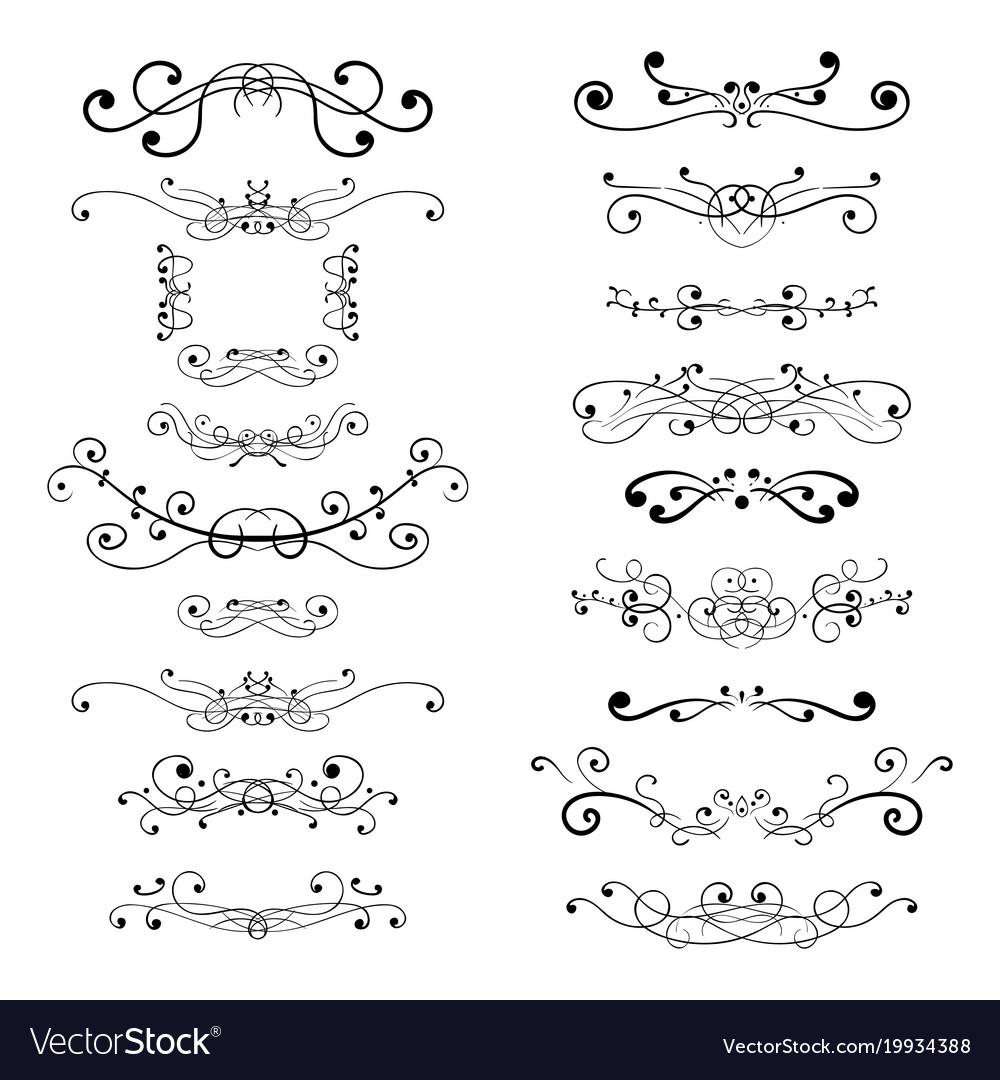 Ornament decorations divider elements