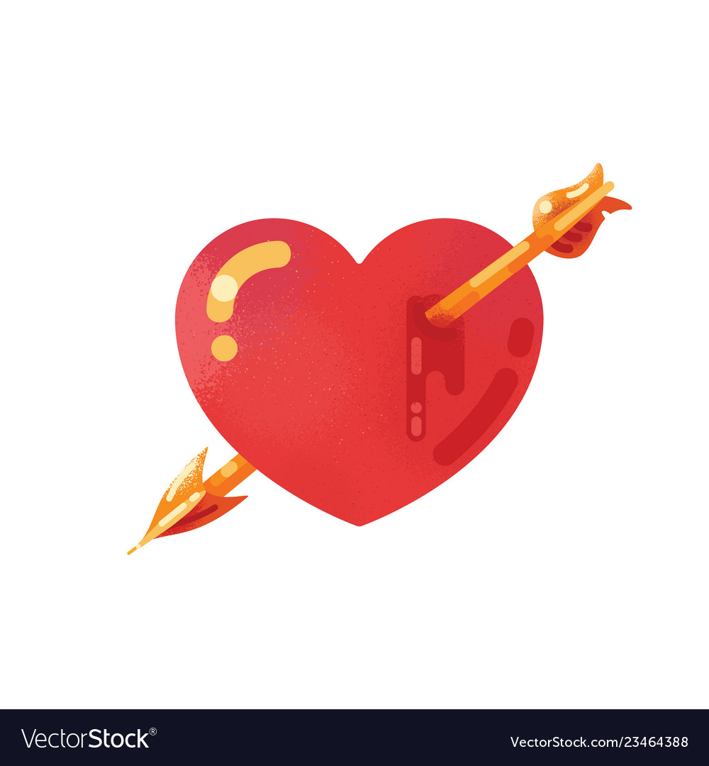 Red heart icon with arrow