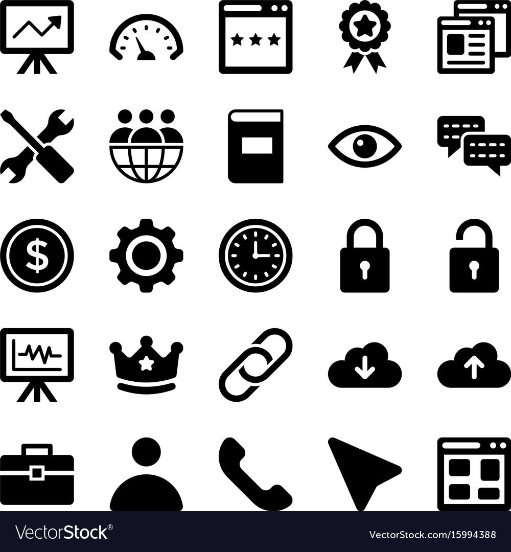 Seo and digital marketing glyph icons 5
