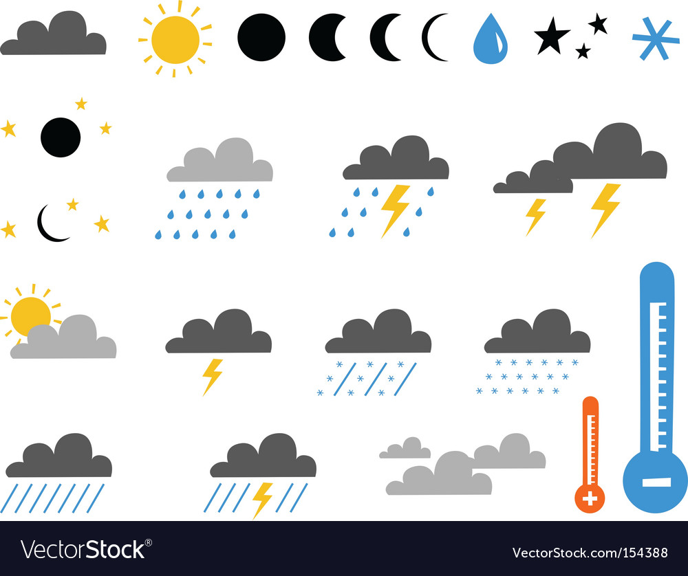 Weather and climate vector image
