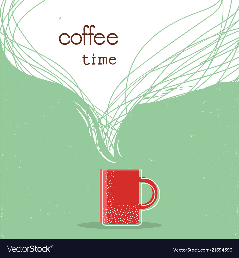 Coffee time postercup of coffee with space