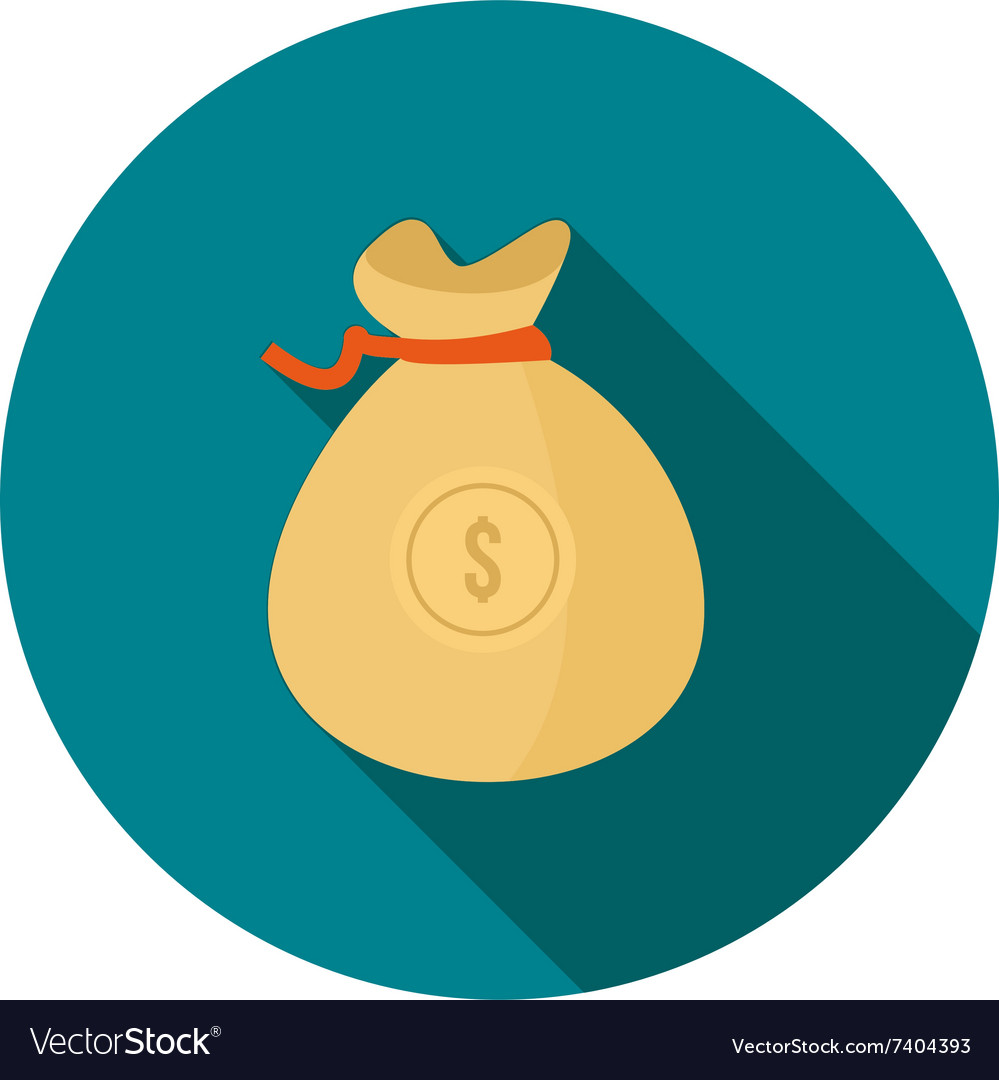 Dollar Currency with bag vector image