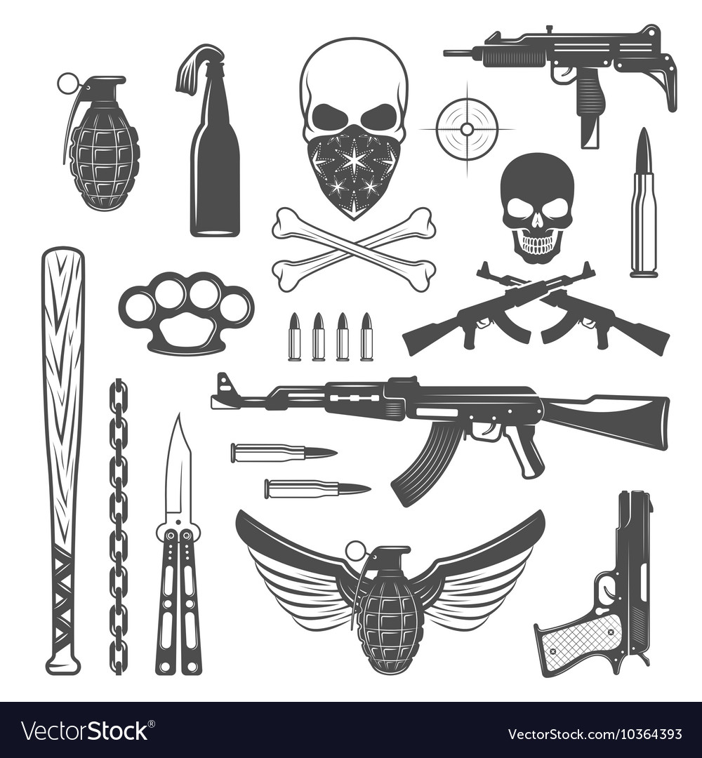 Gangster Monochrome Elements Set