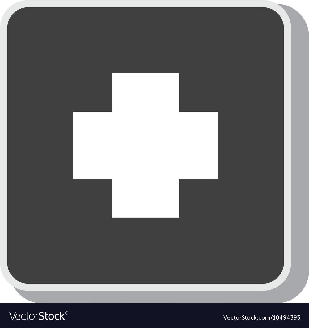 Symbol cross medical medicine design vector image
