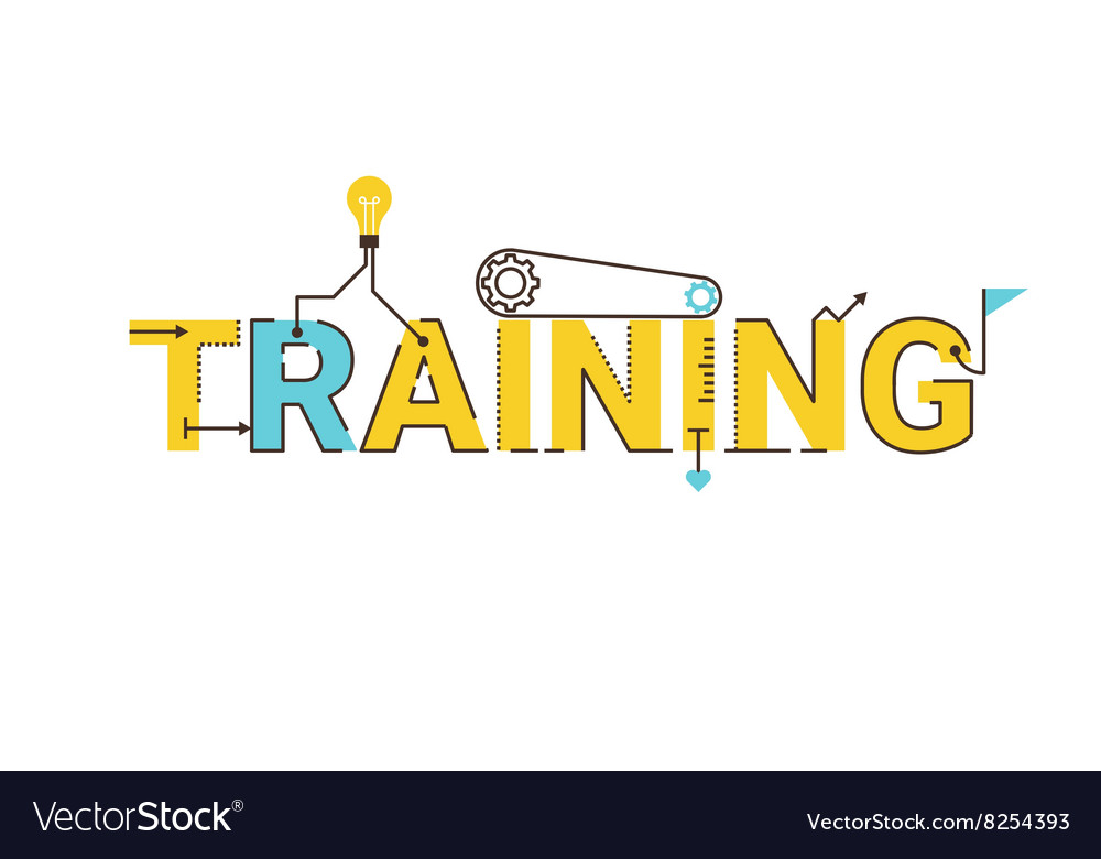 Training word lettering design