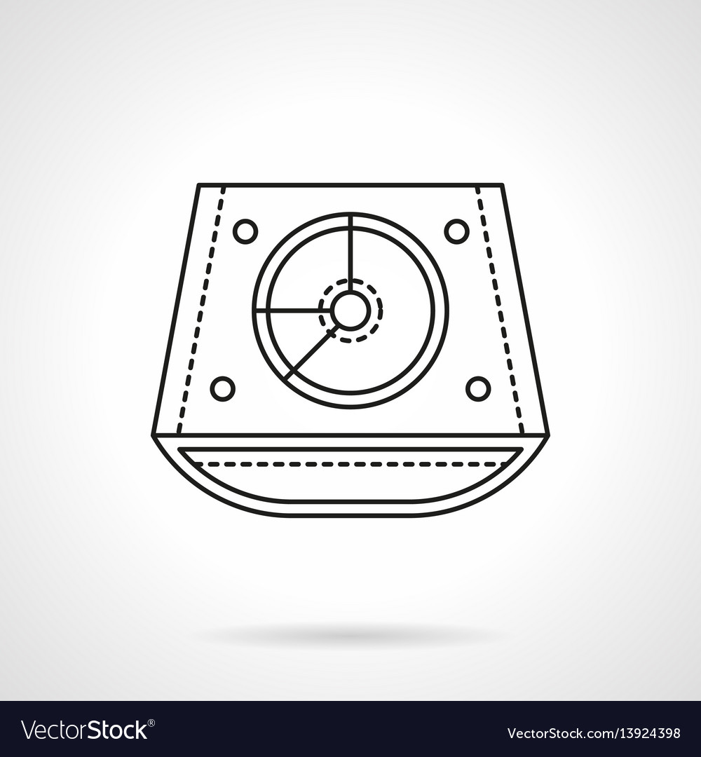 Abstract dj mixer flat line icon