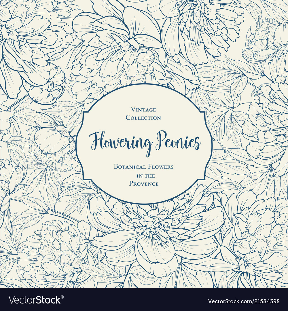 Botanical cover design with floral elements