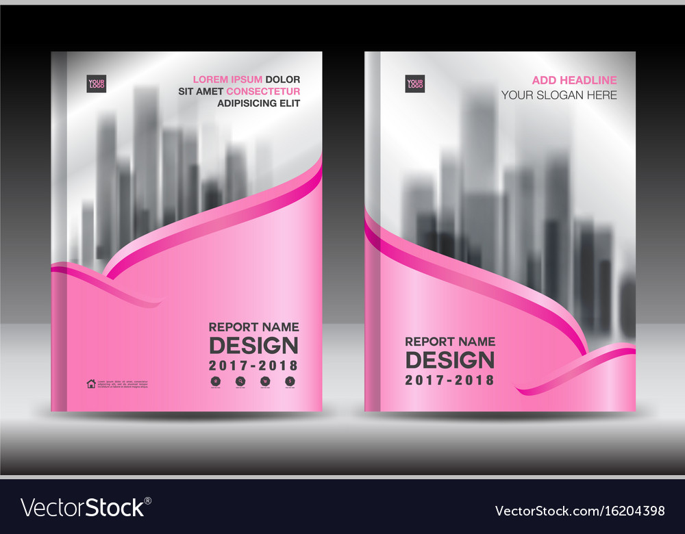 brochure template layout pink cover design flyer vector image