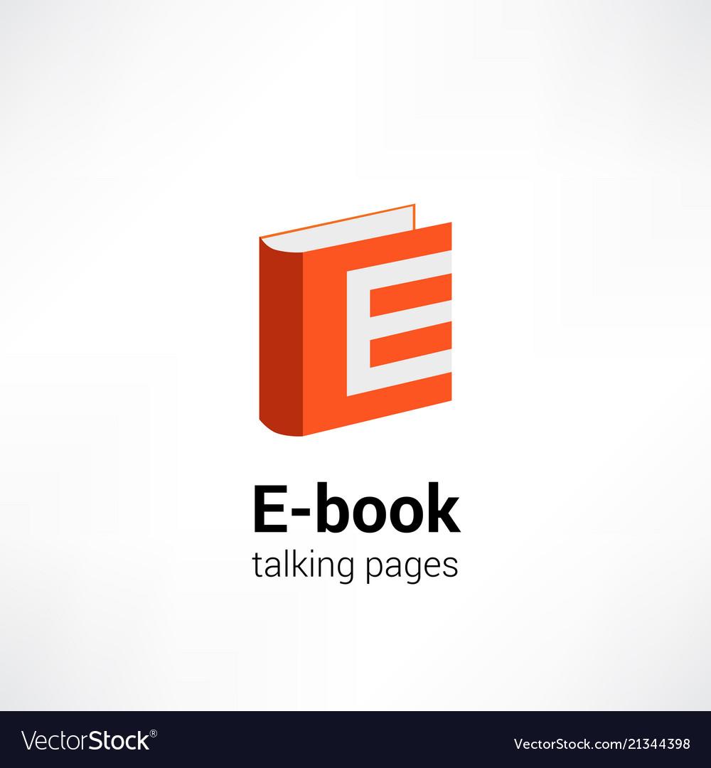E -book icon concept