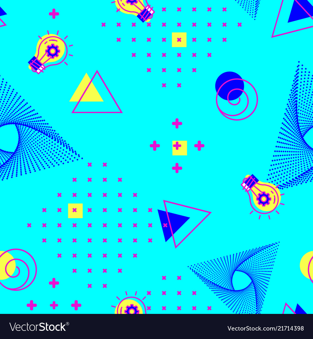 Geometric seamless turquoise pattern abstract