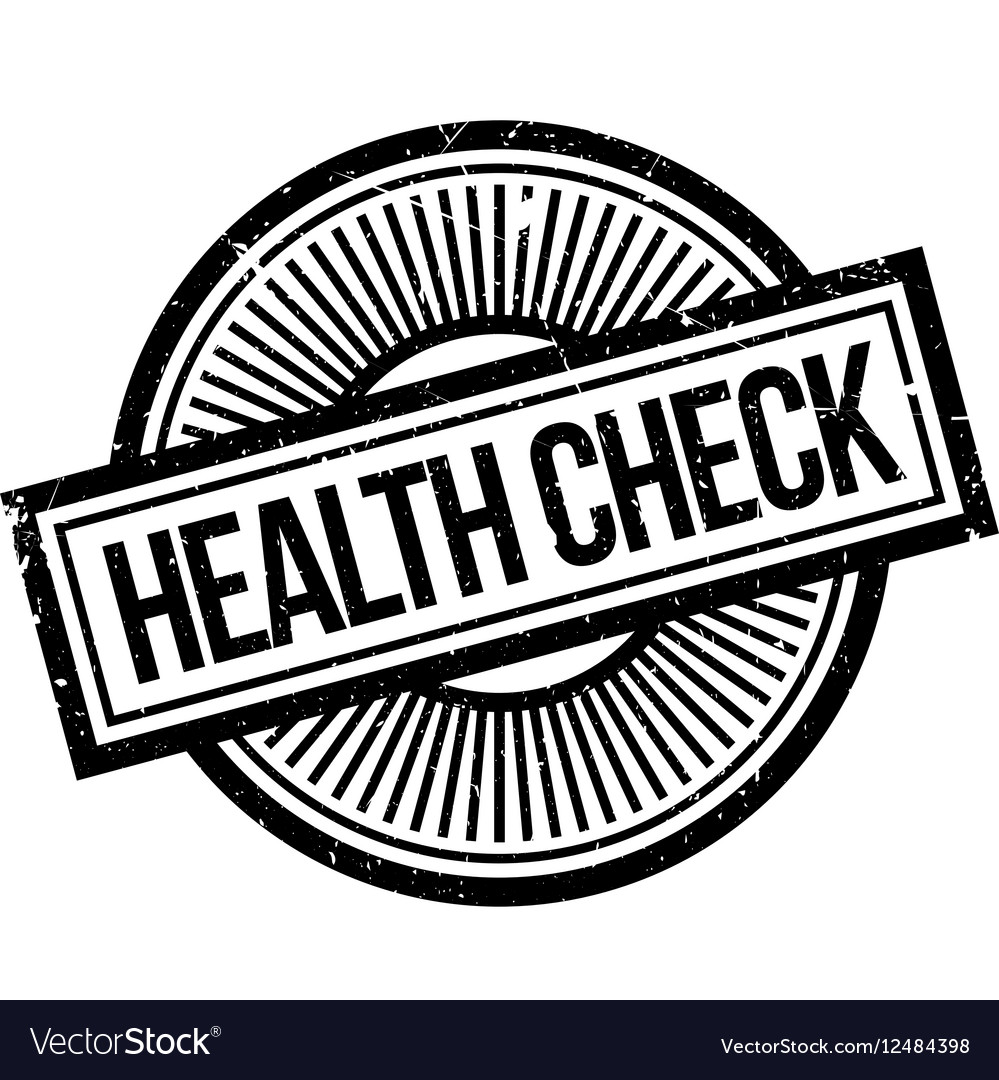 Health Check Rubber Stamp Royalty Free Vector Image
