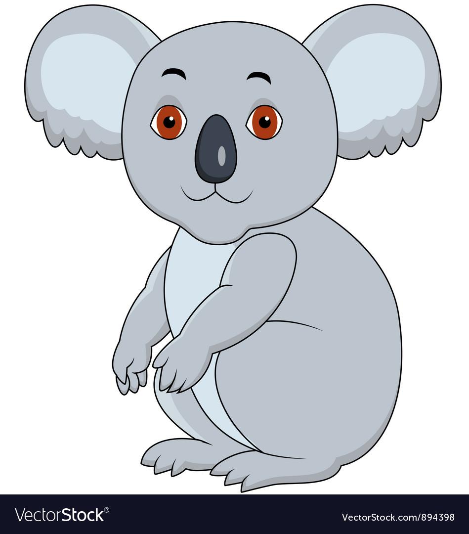 Koala cartoon sitting