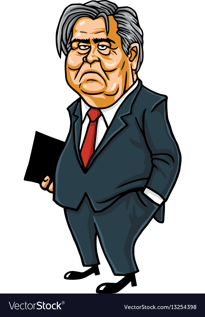 Steve bannon cartoon caricature