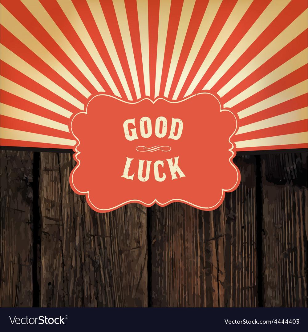 Good luck message
