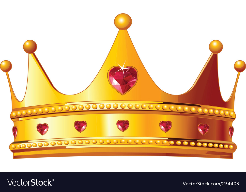Kings crown vector image