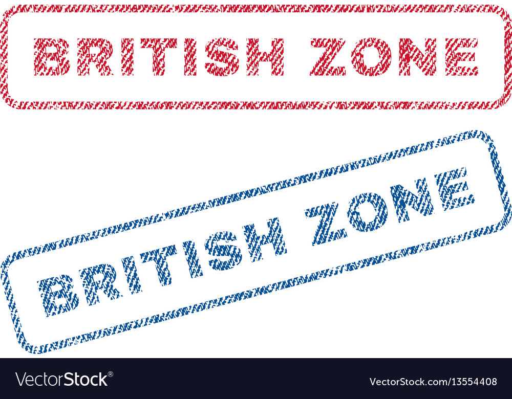 British zone textile stamps