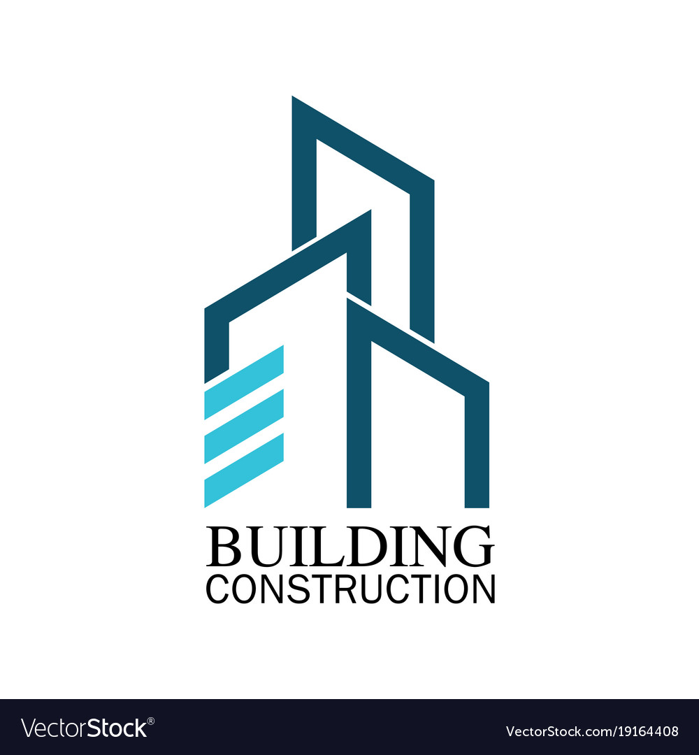 Building Construction Logo Royalty Free Vector Image
