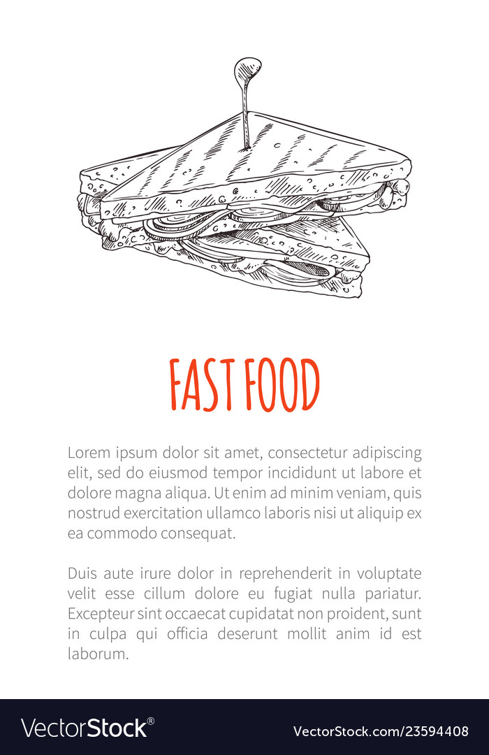 Fast food sandwich poster