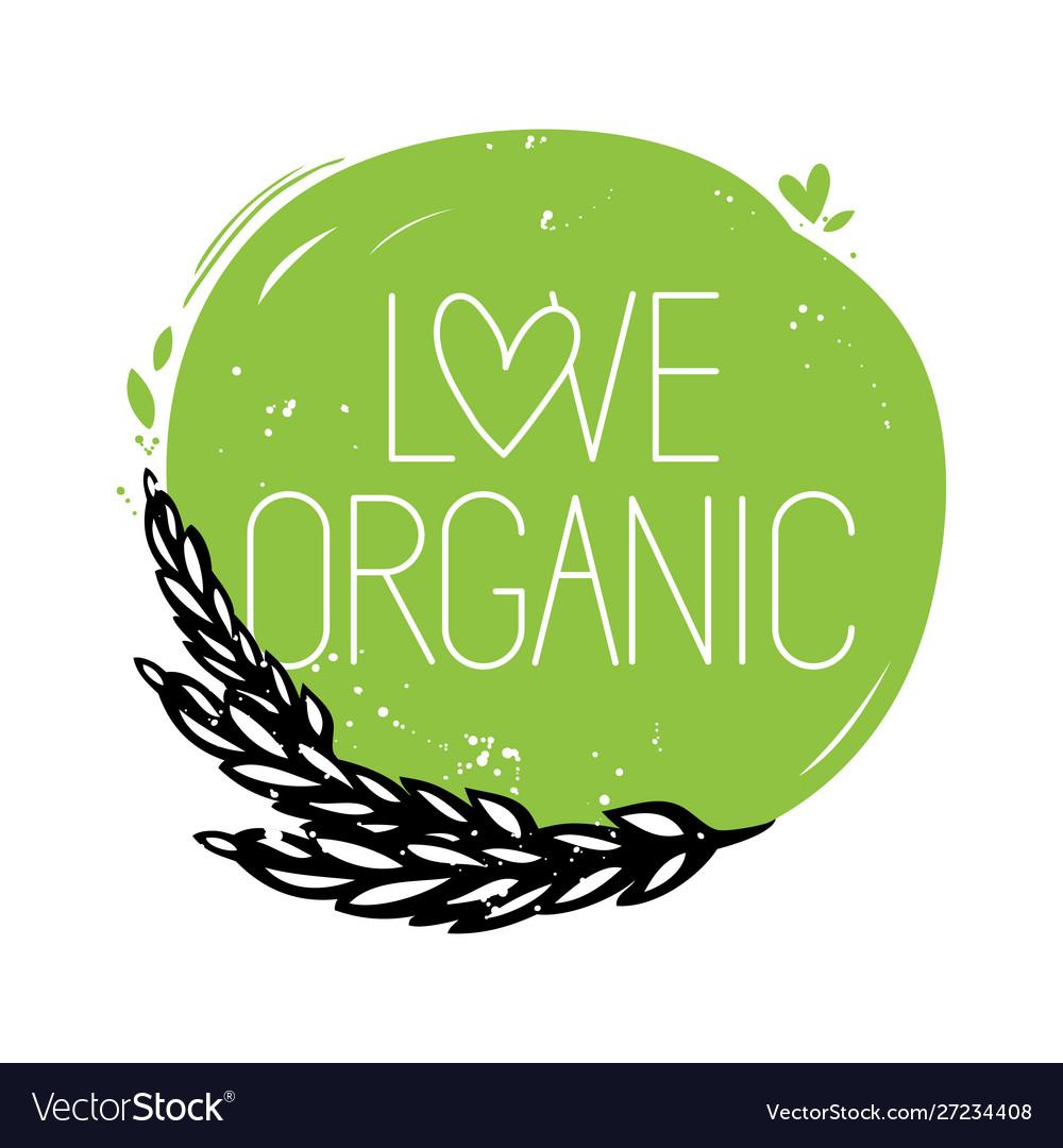 Love organic round symbol