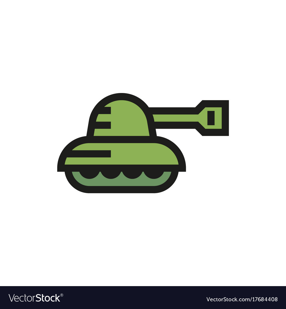 Tank icon on white background