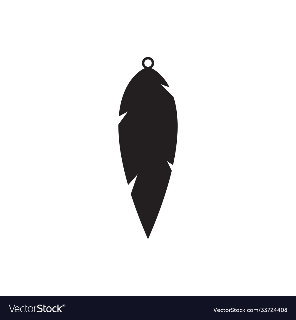 Teardrop earring icon design template isolated