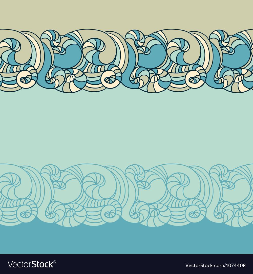 Wave Patterns Background vector image