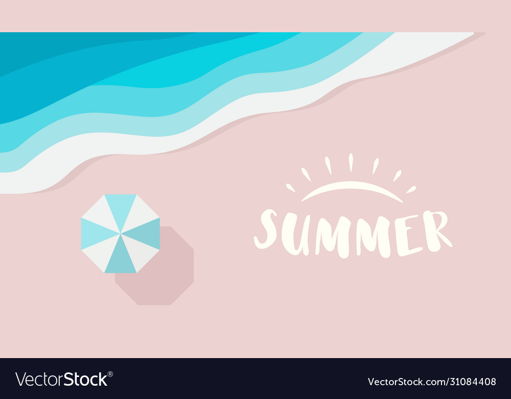 Wide summer poster template with text or logo