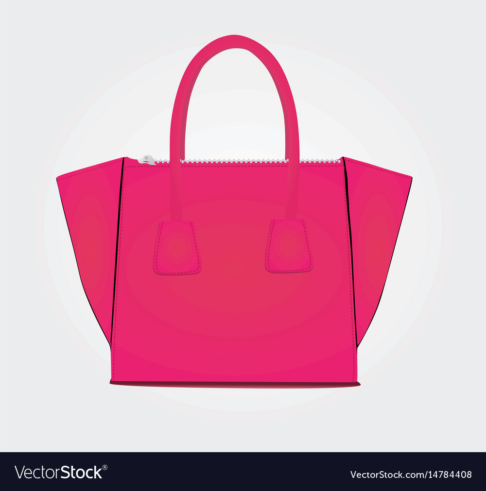 Woman bag in pink color