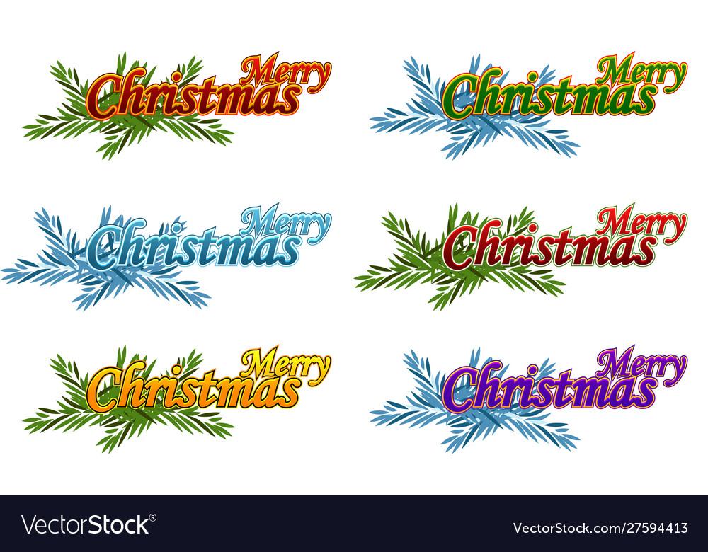 Merry christmas happy new year logo