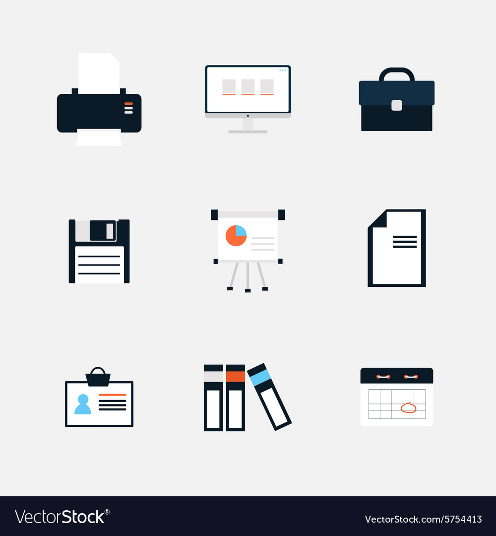 Modern icons collection of business elements