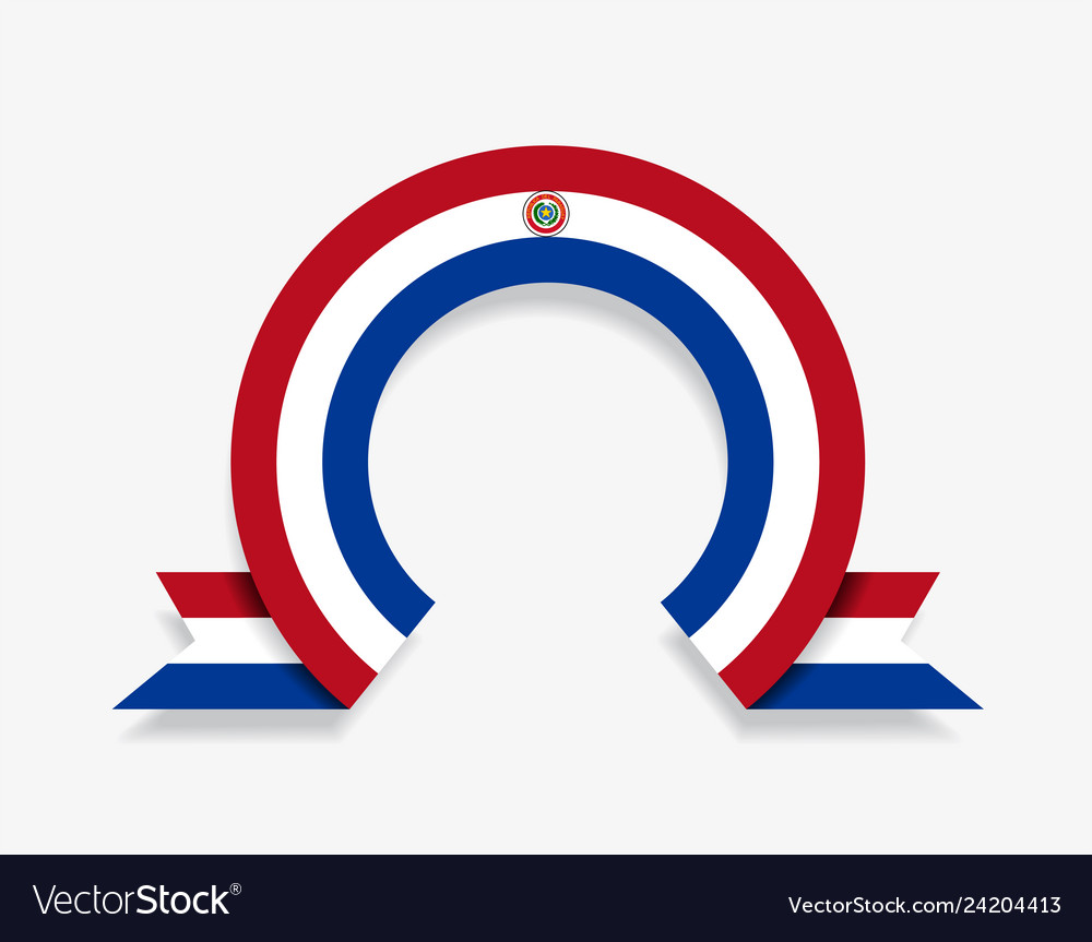 Paraguayan flag rounded abstract background