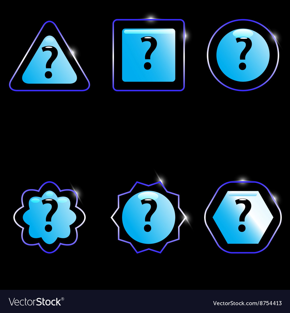 Question mark glossy vector image