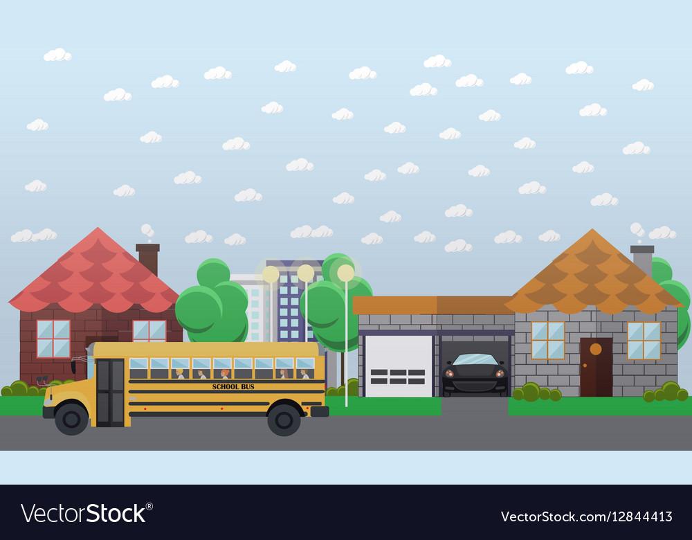 School bus going in the