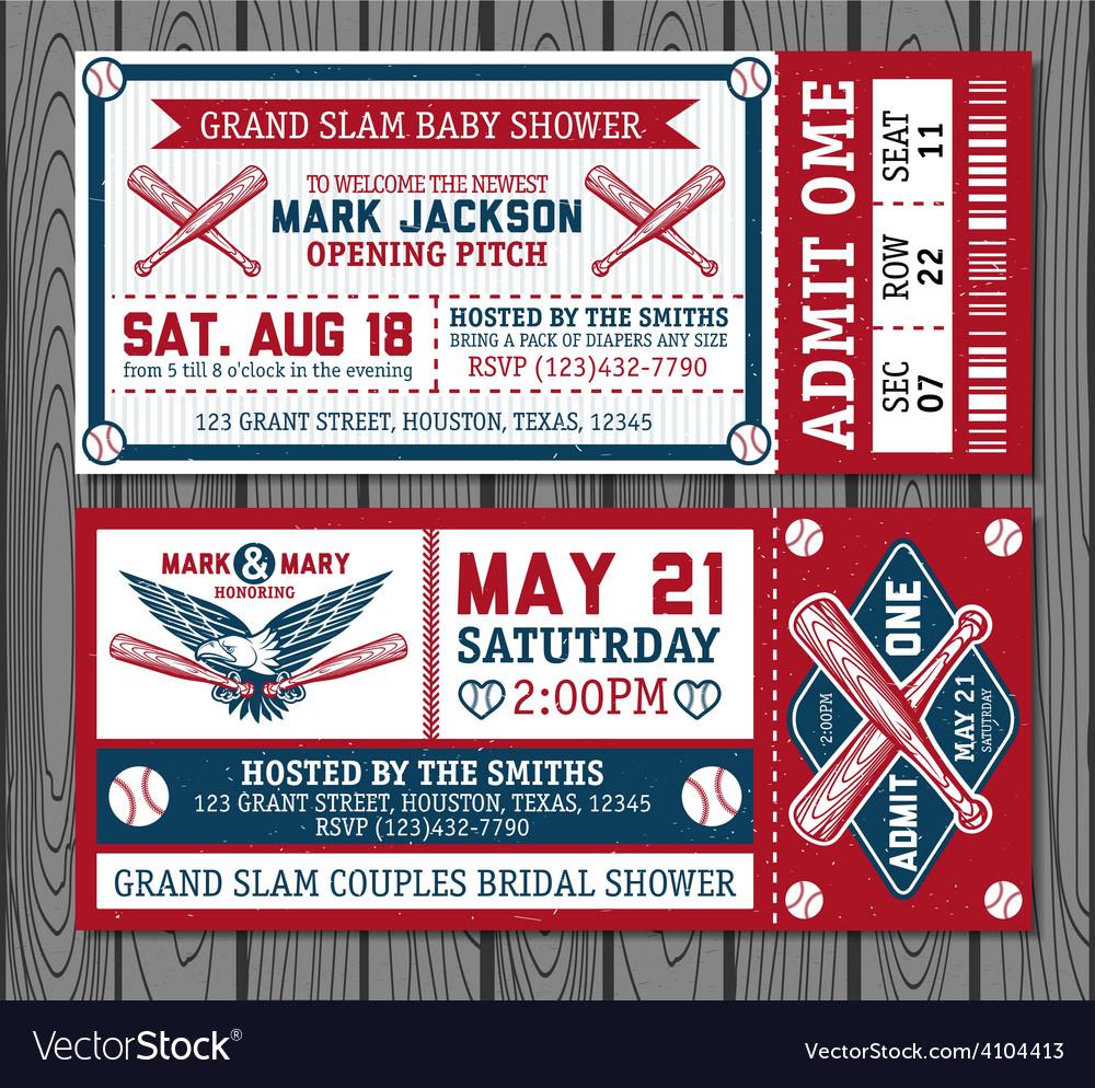 Set vintage baseball labels and badges