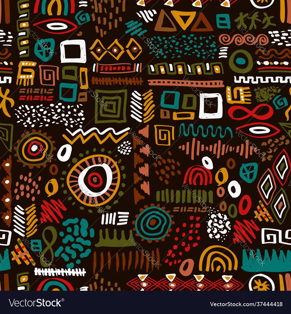 Africa art ethnic seamless pattern tribal print
