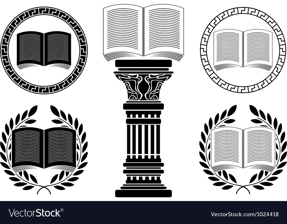 Education stencil second variant vector image