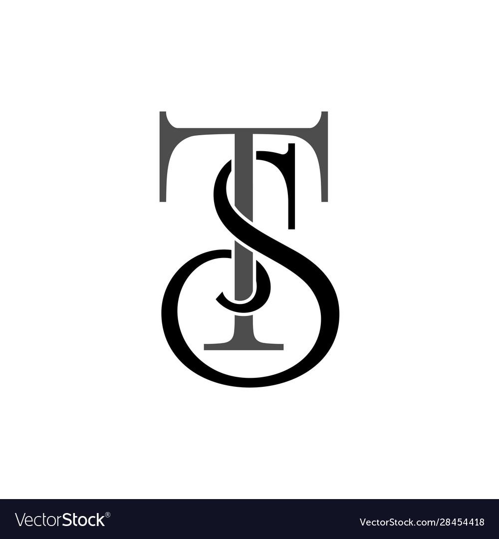 Initial letters st monogram logo