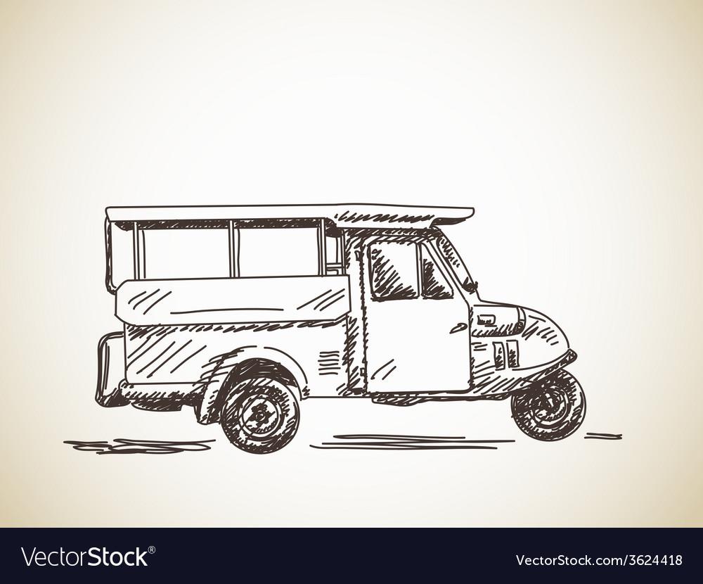 Motorcycle rickshaw vector image